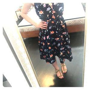 Vintage (70s?) floral sun dress